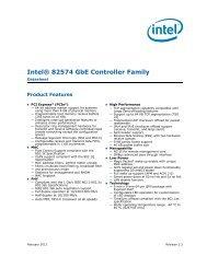Intel® 82574 GbE Controller Family Datasheet