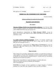 le jugement du 26 août 2010 - Juridat