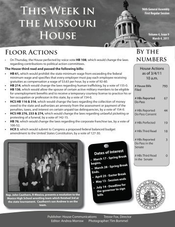 March 4, 2011 - Missouri House of Representatives