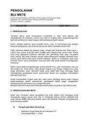 PENGOLAHAN BIJI METE - Pustaka Deptan - Departemen Pertanian