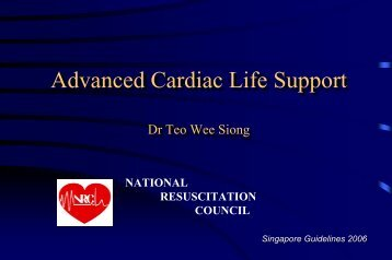 Advanced Cardiac Life Support - National Heart Centre Singapore