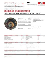 NUCLEAR ENGINEERING - Master | EPFL
