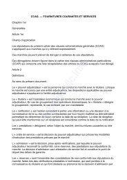 Cahier des clauses administratives générales de ... - Grasse