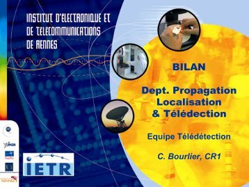 Bilan Équipe Télédétection (IREENA) - IETR