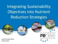 Integrating Sustainability Objectives into Nutrient Reduction Strategies