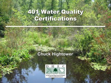 Water Quality Standards and 401 Water Quality Certification