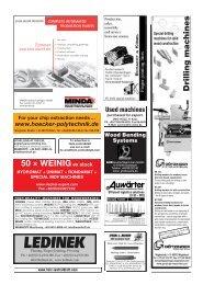 Drilling machines - Holz-Zentralblatt