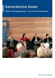 Karrierek(n)ick Kinder - Bertelsmann Stiftung