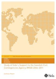 Study of Sida´s Support to the Swedish Civil Contingencies Agency ...