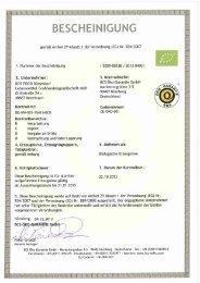 (EG) Nr. 834/2007 - BOS FOOD GmbH
