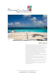Print villa fact file - Pierres Caraibes