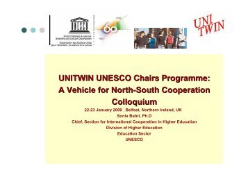 Prof. Bahri Presentation - UK National Commission for UNESCO