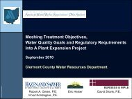 Meshing Treatment Objectives, Water Quality Goals ... - Ohiowater.org