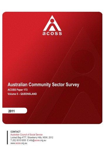 Australian Community Sector Survey - Australian Council of Social ...