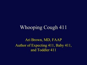 Download PDF of slides from Dr. Ari Brown