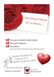 Offre Saint-Valentin 2010