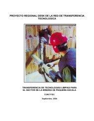 transferencia de tecnologias limpias para el sector de la mineria de ...