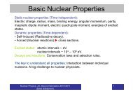 Nuclear Properties Part I