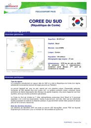 COREE DU SUD - ILE-DE-FRANCE INTERNATIONAL