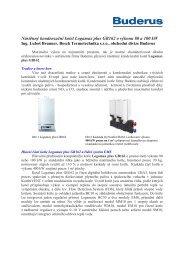Nástěnný kondenzační kotel Logamax plus GB162 o ... - Buderus