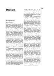 Database - Centro di analisi delle politiche pubbliche