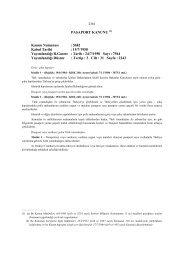 PASAPORT KANUNU (1) Kanun Numarası : 5682 ... - E-Universite