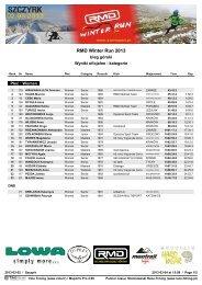 RMD Winter Run 2013 - Race Timing
