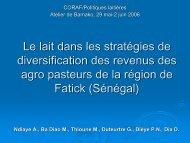 Le lait dans les stratégies de diversification des revenus ... - REPOL