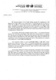 Questions supplémentaires du Comité des Droits de l'enfant de l ...