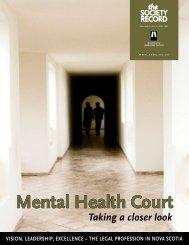 Mental Health Court - Nova Scotia Barristers' Society