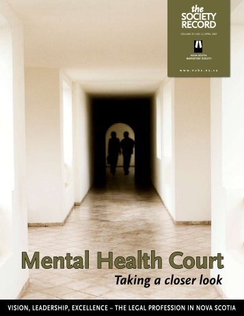 Mental Health Court - Nova Scotia Barristers' Society