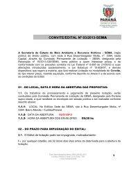 convite/edital nº 03/2013 - Secretaria do Meio Ambiente e Recursos ...