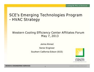 Download the PDF presentation - Western Cooling Efficiency Center