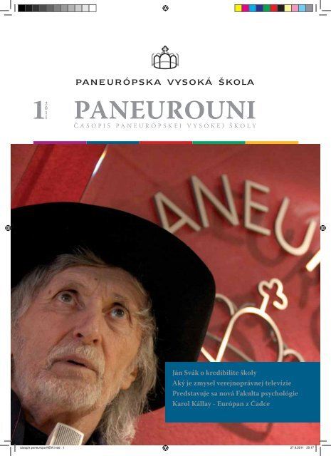 Paneurouni 1/2011 - Paneurópska vysoká škola