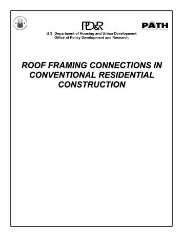 roof framing connections in conventional residential construction