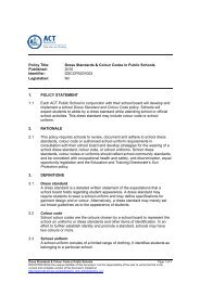 Dress Standards & Colour Codes in Public Schools - Education and ...