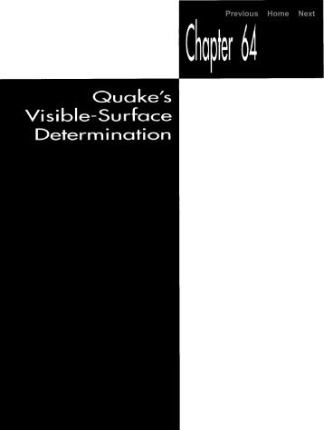 quake's visible-surface determination - GameDev.net