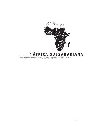 / ÁFRICA SUbSAhARIANA - FIDH