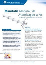 Manifold Modular de Atomização a Ar - Spraying Systems Co.