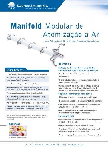 Manifold Modular de Atomização a Ar - Spraying Systems Co.