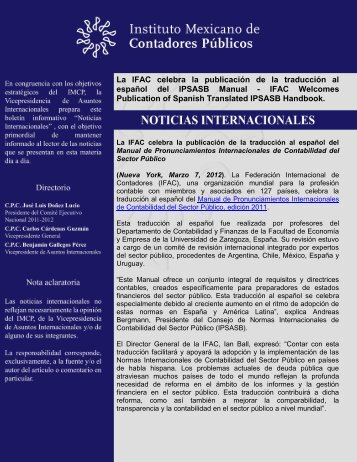 Manual de Pronunciamientos Internacionales de Contabilidad del ...
