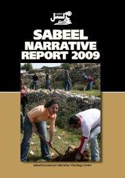lnarrativereport2009 - Sabeel, Ecumenical Liberation Theology Center