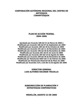 Plan de Acción - Corantioquia