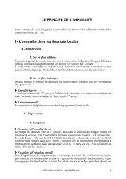 LE PRINCIPE DE L'ANNUALITE I - L'annualité dans les ... - Canalblog