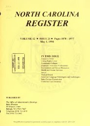 NC Register Volume 12 Issue 21 - Office of Administrative Hearings
