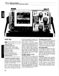 Tek 492 Data Sheet (PDF file) - Mr Test Equipment
