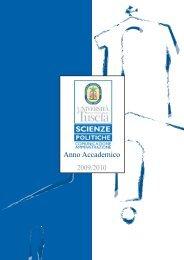 Anno Accademico 2009/2010 - Scienze politiche