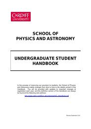 Information on Modules - Cardiff School of Physics and Astronomy