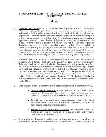 Chapters 1-4 - World Psychiatric Association