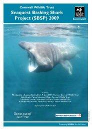 Seaquest Basking Shark Project (SBSP) 2009 - Cornwall Wildlife Trust